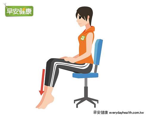 坐姿腳踝伸展操