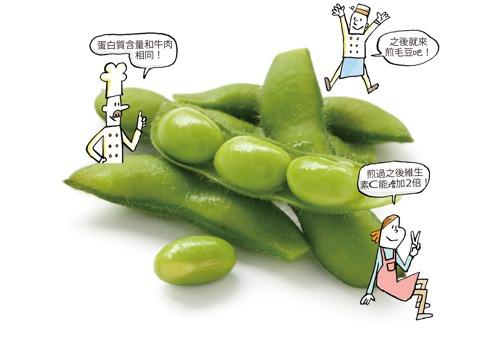 毛豆含有豐富優質蛋白質