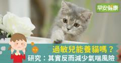 過敏兒能養貓嗎?研究:其實反而減少氣喘風險