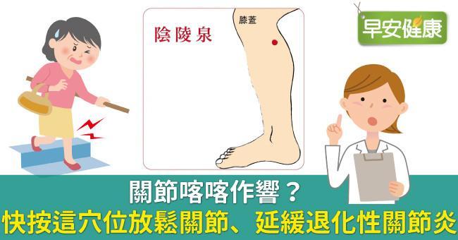 關節喀喀作響?快按這穴位放鬆關節、延緩退化性關節炎