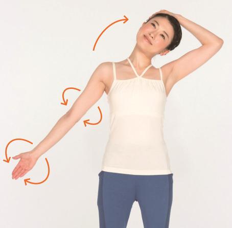 右側頸部伸展操