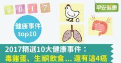 2017精選10大健康事件:毒雞蛋、生酮飲食...還有這4癌