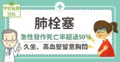 肺栓塞:急性發作死亡率超過50%,久坐、高血壓留意胸悶