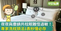 夜夜與塵蟎共枕眠難怪過敏!專家洗枕頭法1表秒懂必存