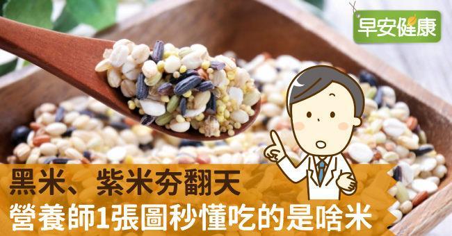 黑米、紫米夯翻天,營養師1張圖秒懂吃的是啥米