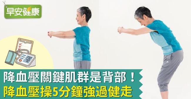 降血壓關鍵肌群是背部!降血壓操5分鐘強過健走