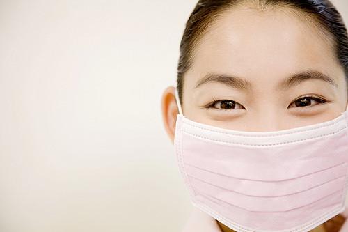 戴口罩預防流感