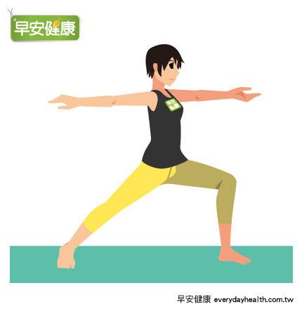瘦下半身瑜珈:仰頭伸手