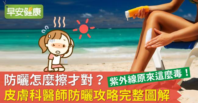 防曬怎麼擦才對?皮膚科醫師防曬攻略完整圖解