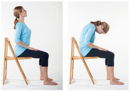 辦公室伸展運動-坐椅貓式伸展