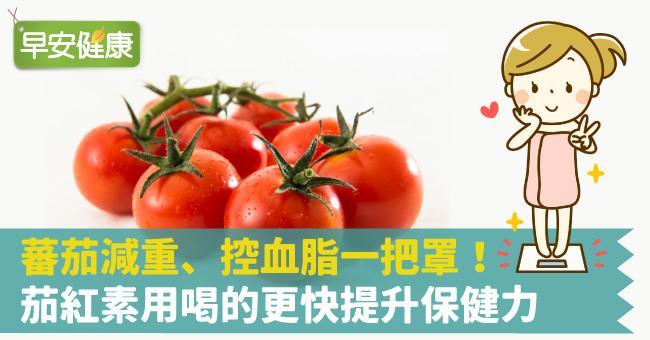 蕃茄減重、控血脂一把罩!茄紅素用喝的更快提升保健力