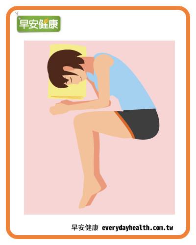 側躺蜷縮「胎兒姿勢」改善駝背
