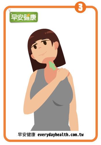 按肩膀伸展脖子胸鎖乳突肌