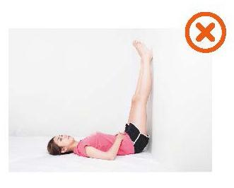 消水腫的錯誤抬腿動作:抬腿太高