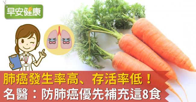 肺癌發生率高、存活率低!名醫:防肺癌優先補充這8食