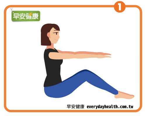 皮拉提斯動作這樣做,輕鬆鍛鍊腹斜肌