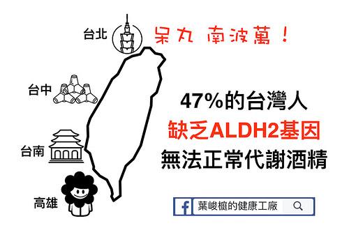 47%台灣人無法正常代謝酒精