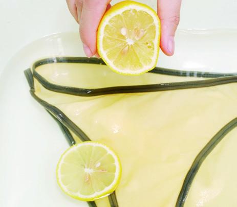 生理期去血漬 檸檬水 食鹽
