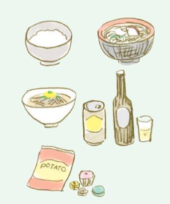 減肥時該避免的食物:白飯、烏龍麵、蕎麥麵、酒、甜點類、肥肉、油炸食品、含糖飲料