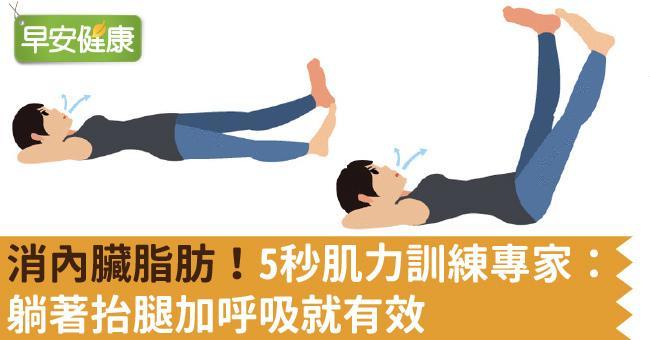 消內臟脂肪!5秒肌力訓練專家:躺著抬腿加呼吸就有效