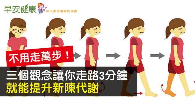 不用走萬步!三個觀念讓你走路3分鐘就能提升新陳代謝