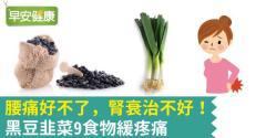 腰痛好不了,腎衰治不好!黑豆韭菜9食物緩疼痛