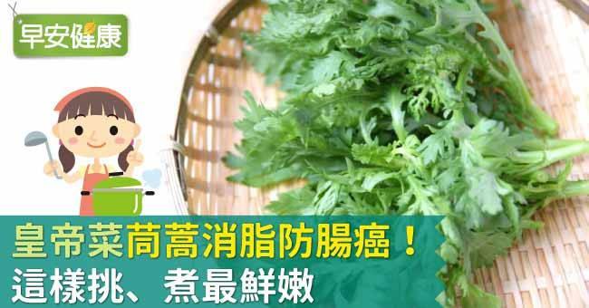 茼蒿是冬季減肥聖品!茼蒿消脂護肝防腸癌
