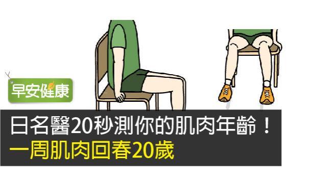 日名醫20秒測你的肌肉年齡!一周肌肉回春20歲