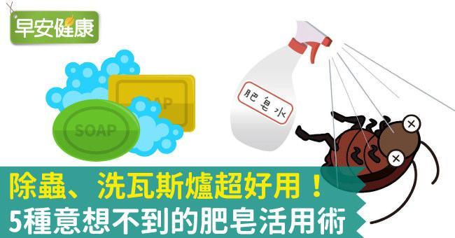 除蟲、洗瓦斯爐超好用!5種意想不到的肥皂活用術