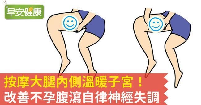 按摩大腿內側溫暖子宮!改善不孕腹瀉自律神經失調