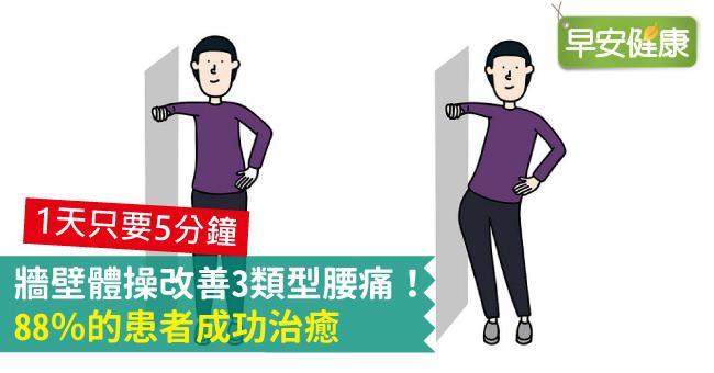 牆壁體操改善3類型腰痛!88%的患者成功治癒