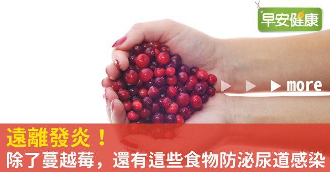 遠離發炎!除了蔓越莓,還有這些食物防泌尿道感染