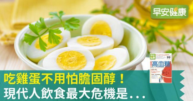 吃雞蛋不用怕膽固醇!現代人飲食最大危機竟是...