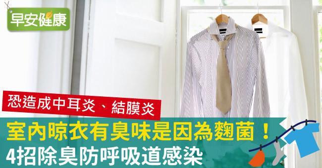 室內晾衣有臭味是因為麴菌!4招除臭防呼吸道感染