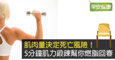 肌肉量決定死亡風險!5分鐘肌力鍛鍊幫你燃脂回春