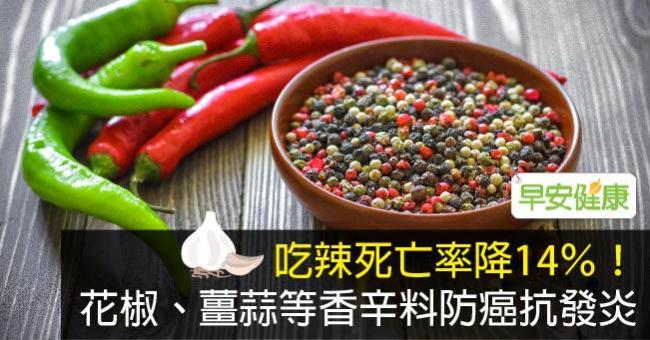 吃辣死亡率降14%!花椒、薑蒜等香辛料防癌抗發炎