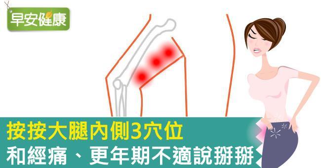 按按大腿內側3穴位,和經痛、更年期不適說掰掰