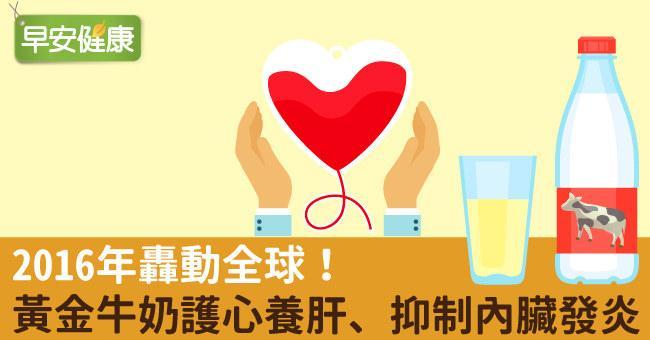 2016年轟動全球!黃金牛奶護心養肝、抑制內臟發炎