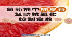 葡萄柚中柚皮苷,幫助抗氧化控制食慾