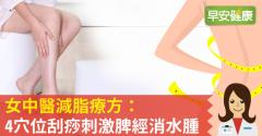 女中醫減脂療方:4穴位刮痧刺激脾經消水腫