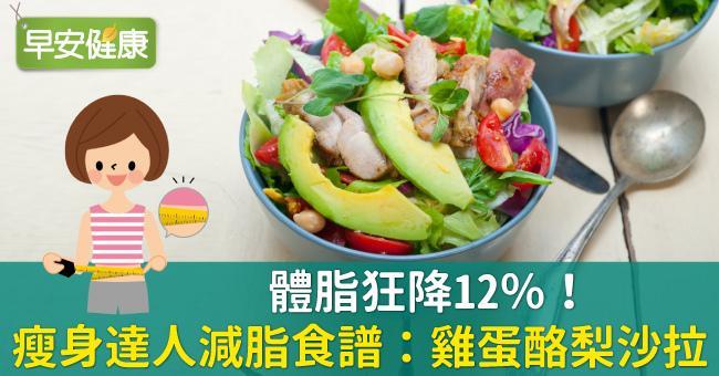 體脂狂降12%!瘦身達人減脂食譜:雞蛋酪梨沙拉