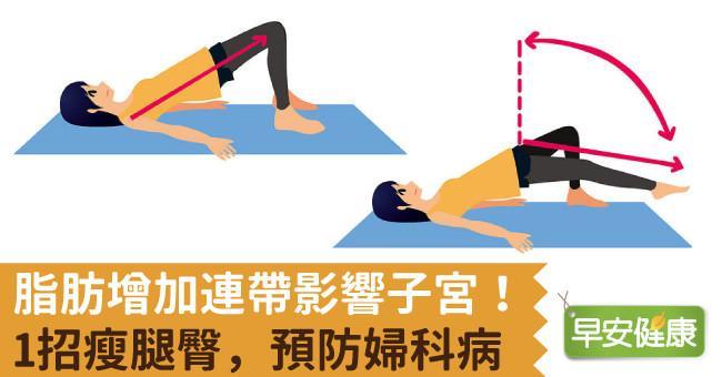 脂肪增加連帶影響子宮!1招瘦腿臀,預防婦科病