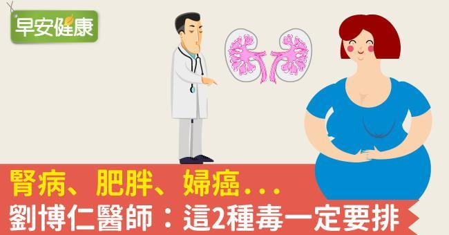 腎病、肥胖、婦癌...劉博仁醫師:這2種毒一定要排