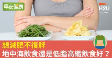 想減肥不復胖,地中海飲食還是低脂高纖飲食好?