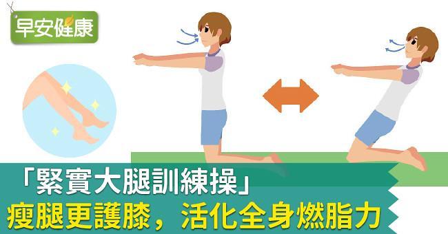 「緊實大腿訓練操」瘦腿更護膝,活化全身燃脂力!