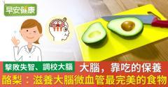 大腦,靠吃的保養!酪梨:滋養大腦微血管最完美的食物