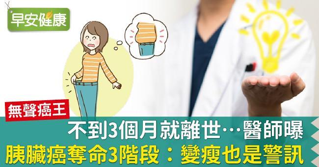 不到3個月就離世…醫師曝胰臟癌奪命3階段:變瘦也是警訊!