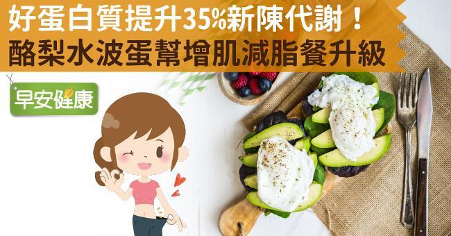 好蛋白質提升35%新陳代謝!酪梨水波蛋幫增肌減脂餐升級