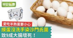 摸蛋沒洗手染沙門氏菌致9成大腸壞死!愛吃半熟蛋要小心