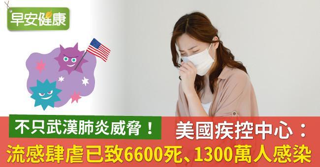 不只新冠肺炎威脅!美國疾控中心:流感肆虐已致6600死、1300萬人感染